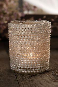 We could do this ourselves Pearl Tealight Candleholder $3.99 each / 6 for $3 each
