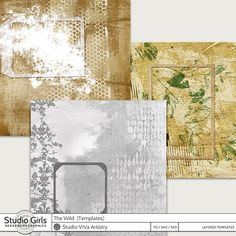 The Wild Templates perfect for digital mixed media art, art journaling, and other artsy projects