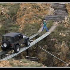 I would be the one outside the jeep!!!!