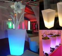 X & Y Light Pots: Enhance your plants with these glowing pots
