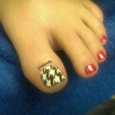 Houndstooth nail art... #freehand #nailart ig:brandysunday