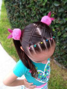 Easy Toddler Hairstyles, Girls School Hairstyles, Girls Natural Hairstyles, Baby Girl Hairstyles, Kids Braided Hairstyles, Baddie Hairstyles, Diy Hairstyles, Natural Hair Styles, Balayage Hair Brunette Caramel