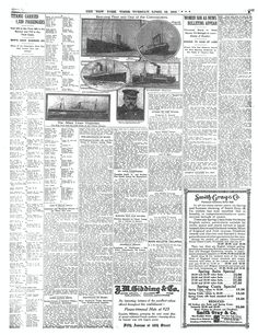 TimesMachine April 16, 1912 - New York Times - Titanic - PAGE 5