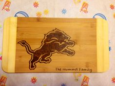 Detroit Lions Cutting Board  on Etsy, $25.00 CAD