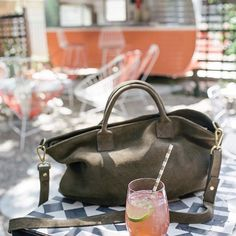 The Riviera Handbag, aka our new best friend. Pairs well with adventures, sunshine, and watermelon spritzes. 🍉
