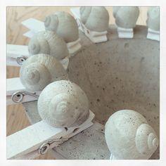 Kleines aus Beton - Sieda Beton Website Concrete Crafts, Concrete Art, Concrete Projects, Concrete Planters, Seaside Art, Papercrete, Seashell Crafts, Diy Projects To Try, Diy And Crafts