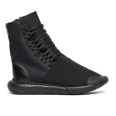 Qasa boot sneakers from the F/W2016-17 Y-3 by Yohji Yamamoto collection in black