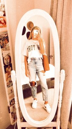 Cute Lazy Outfits, Casual School Outfits, Trendy Summer Outfits, Teenage Outfits, Teen Fashion Outfits, Retro Outfits, Outfits For Teens, Look Fashion, Stylish Outfits