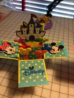 handmade pop up card. Surprise your kids with a card say were going to Disney. I can customize to your needs. You pick theme and color. Cards may