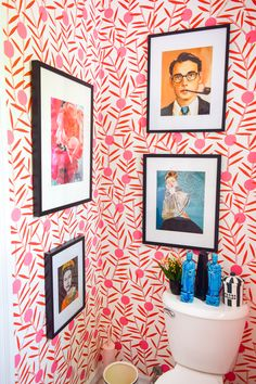 Colorful Powder Room Before & After Wc Decoration, Home Decor Inspiration, Bathroom Inspiration, Decor Ideas, Cheap Home Decor, Home Decor Accessories, Interior And Exterior, Interior Plants, Interior Design
