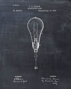 Patent Print of a Light Bulb Lamp Patent Art Print by VisualDesign