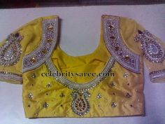Silk Work Blouse with Net Sleeves | Saree Blouse Patterns