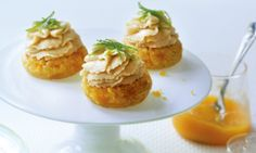 Raw recipe for Apricot Cheesecake Cupcakes.