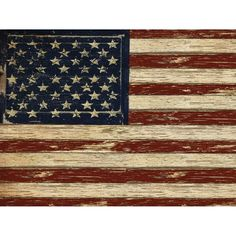 "Portfolio Canvas 'Old Glory' by Beth Albert Painting Print on Wrapped Canvas Size: 22"" H x 28"" W x 1.5"" D"