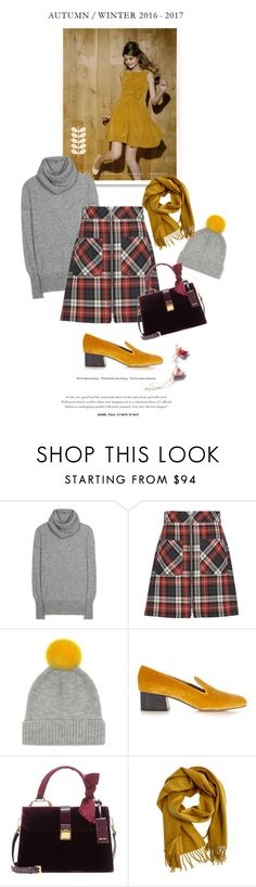 """Dust in the wind"" by iriadna ❤ liked on Polyvore featuring Orla Kiely, The Row, Miu Miu, Chloé, Hermès, plaid, loafers, casualoutfit, fallstyle and fallsweaters"