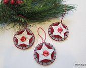 felt star Christmas ornament
