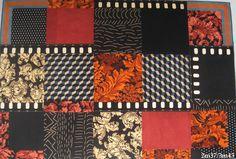 tapis rug carpet patchwork french création  tableau unique descente de lit tapis de couloir pure laine wool upcycling artisanat d'art Paris