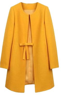 Goodnight Macaroon Pea Coat. Free shipping and guaranteed authenticity on Goodnight Macaroon Pea Coat at Tradesy. Vintage Style Mustard Yellow Ribbon Bow Belted Pea...