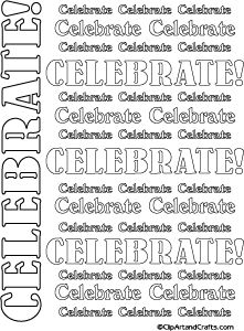 Celebrate #wordart #coloringpage or craft template