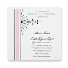Petal Pink Wedding Invitations by TheAmericanWedding.com