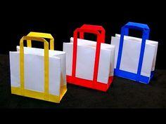 【折り紙】トートバッグの折り方 ~帆布風~ ORIGAMI How to Fold tote bag - YouTube
