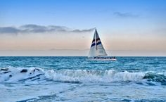 Dreamy Sailboat Sunset Santa Cruz CA Famous by PhotosbyMarilyn