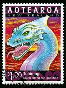 The taniwha Tuhirangi accompanied the legendary explorer Kupe on his voyage of discovery to New Zealand. It was reputed that Kupe placed Tuhirangi in Te Moana-o-Raukawa (Cook Strait) as a guardian.