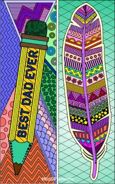 Father's Day Coloring Bookmarks #Fathersday #colouring