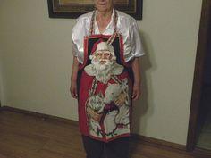 Cooking Apron Santa Christmas Vintage Santa by mariafiggins, $26.50 #Santa_Claus #Santa #Christmas