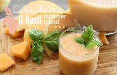 Cantaloupe + Basil Summer Blend   PepperDesignBlog.com