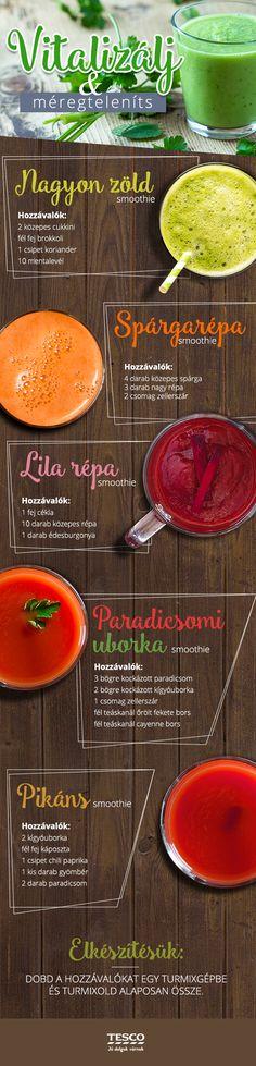 A zöldségturmixokra sosem lehet ráunni! Igyál meg egyet reggelire és tökéletesen fog indulni a napod! ;) #turmix #smoothie #finom #recept #tesco #tescomagyarorszag