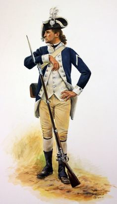 AWI- America: Private of the 9th Massachusetts Regiment 1782, by Don Troiani.