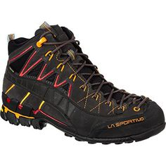 La Sportiva Hyper Mid GTX Boot - Men's Black / Red 46.5 - http://authenticboots.com/la-sportiva-hyper-mid-gtx-boot-mens-black-red-46-5/
