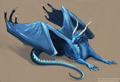 Here is your blue dragon I have to start learning. But Polish is so boring Photoshop wacon no more than 8 hours EDIT: I've uploaded original size, so you can. Dragon Armor, Dragon Rider, Magical Creatures, Fantasy Creatures, Fantasy Dragon, Fantasy Art, Inheritance Cycle, Manga Dragon, Creature Drawings