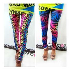 2015 FASHION women's sex lady pants neon Leopard striped high spandex... ❤ liked on Polyvore featuring pants, leggings, leopard print leggings, striped leggings, spandex pants, stripe leggings and leopard print spandex pants