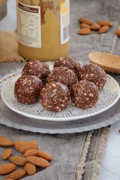 These Raw & Guilt-Free Peanut Butter Brownie Bliss Balls are the perfect healthy treat... even though they taste super naughty! Includes a simple step by step recipe video!  #brownie #peanutbutter #blissballs #snack #lunchbox #thermomix #baking #nobake #rawfood #healthyeating