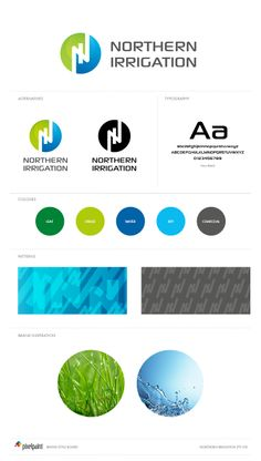 Northern Irrigation Brand Board | Logo design