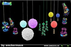Sims 4 CC's - The Best: Some decorations for your New Year's Eve party by ...
