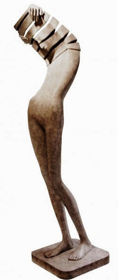 abstract surreal art wood figurative art sculpture Isabel Miramontes - Sculpteur