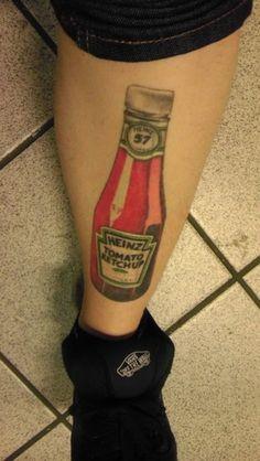 Extreme Heinz Love: Ketcup tattoo
