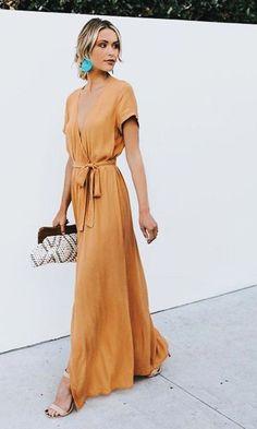 Casual summer dresses - Looks - Summer Dress Outfits Maxi Wrap Dress, Dress Skirt, Wrap Dresses, Maxi Skirts, Dresses Dresses, Wedding Dresses, Wedding Shoes, Formal Dresses, Dresses Online