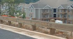 A guard rail for the easement