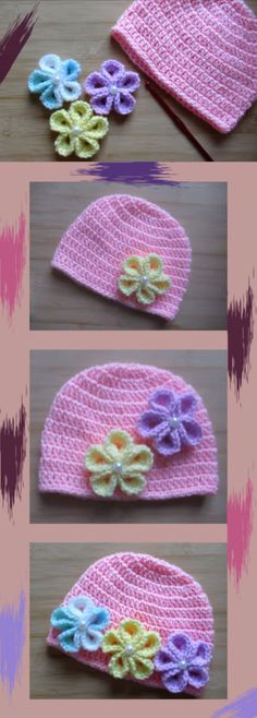 Ideas crochet baby hats girl free pattern beanie yarns for 2019 Crochet Baby Beanie, Crochet Headband Pattern, Baby Girl Crochet, Beanie Pattern, Crochet For Kids, Baby Knitting, Crochet Hats, Hat Patterns, Beanies
