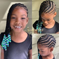 A selection of 50 kids braids with beads hairstyles to get your kids holiday ready. From kids braided updos with beads, to single braids with beads. Lil Girl Hairstyles, Black Kids Hairstyles, Natural Hairstyles For Kids, Kids Braided Hairstyles, Natural Hair Styles, Children Hairstyles, Toddler Hairstyles, Popular Hairstyles, Afro Hairstyles