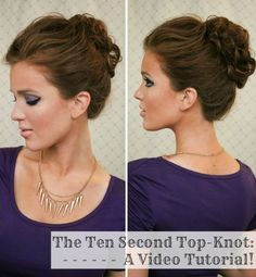 The Ten Second Top-knot: A Video Tutorial! - The Freckled Fox