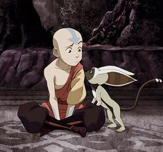 Aang & Momo. Back in the good ol' days