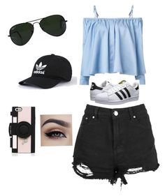"""""""Untitled #31"""" by rekac on Polyvore featuring Sandy Liang, adidas Originals, Ray-Ban and Kate Spade"""