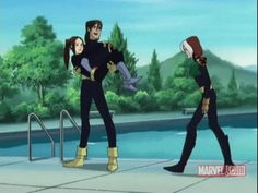 Shadowcat,avalanche and rogue from xmen evolution