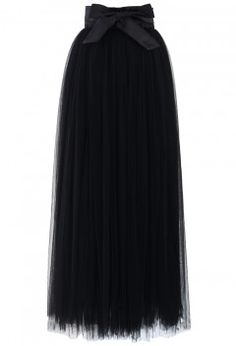 Amore Maxi Tulle Prom Skirt in Black - Retro, Indie and Unique Fashion