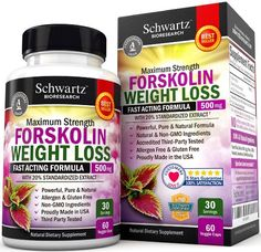 Forskolin Extract for Weight Loss. Pure Forskolin Diet Pills & Belly Buster Supplement. Premium Appetite Suppressant, Metabolism…